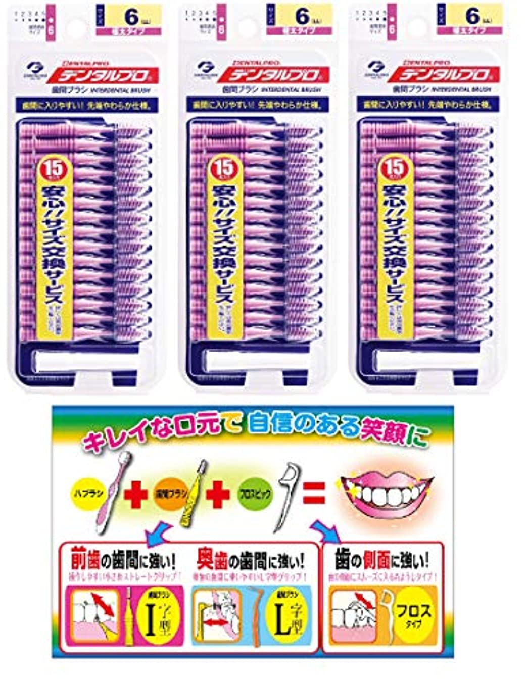 マーカー無線セットする【Amazon.co.jp限定】DP歯間ブラシ15Pサイズ6(LL)3P+リーフレット