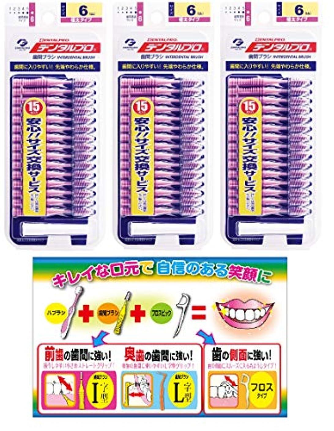 合意スライス国籍【Amazon.co.jp限定】DP歯間ブラシ15Pサイズ6(LL)3P+リーフレット