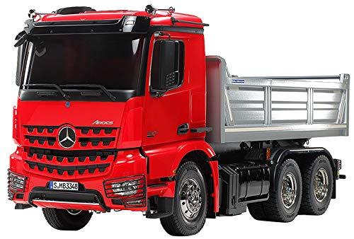 1/14 電動RCビッグトラックシリーズ No.61 メルセデス・ベンツ アロクス 3348 6x4 ダンプトラック レッドキャビン/シルバーベッセルエディション 56361