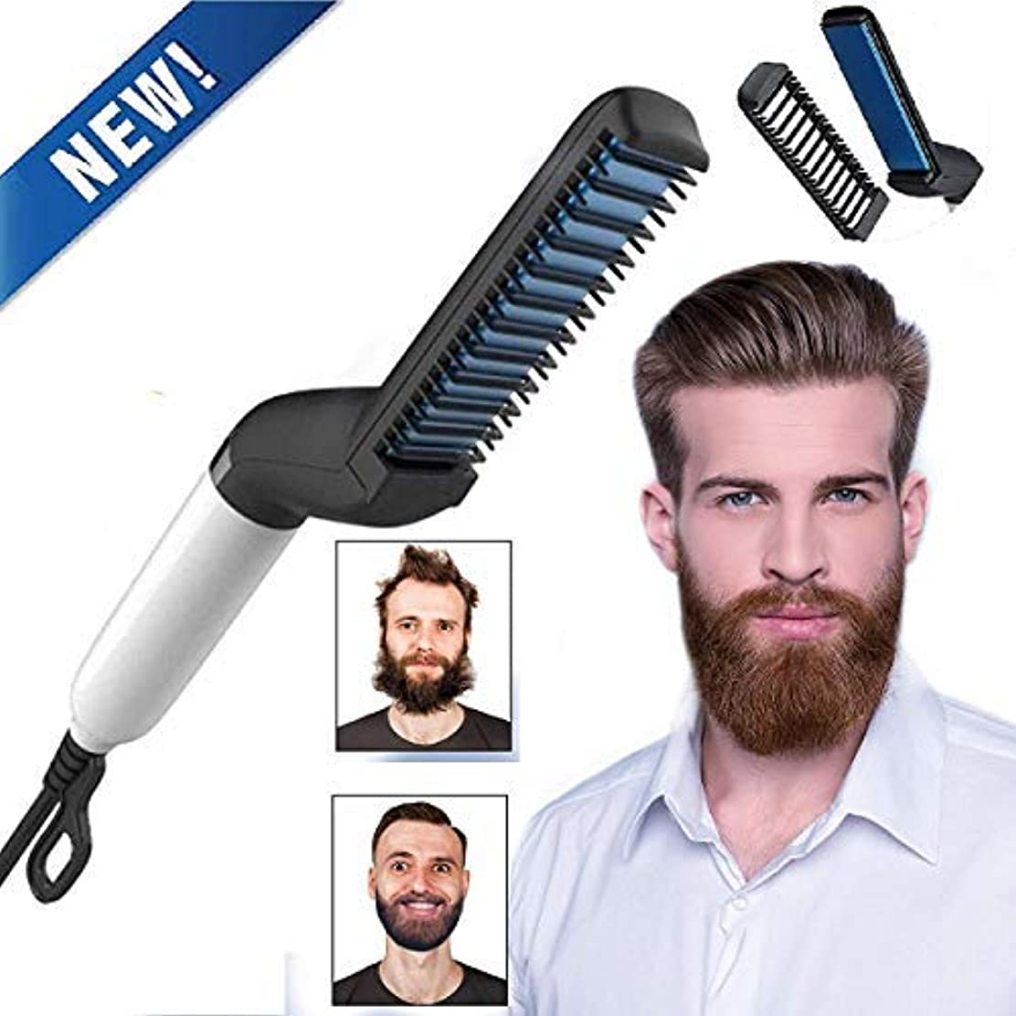 分析限りなくスタッフBeard Straightener,Electric Hot Hair Comb For Men,Multi-functional styling comb (new packaging and new design)...