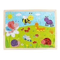 カルム 木製パズル玩具 60ピース 木製 面白いパズル 知育育 赤ちゃん 子供 トレーニング 玩具