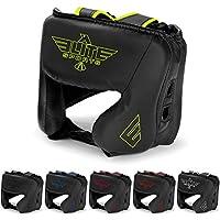 新しいアイテムEliteスポーツボクシングヘッドガード、Sparring Kickboxing、MMA、タイ式Headgear Kickブレースヘッド保護