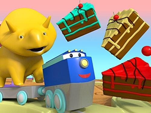 虹のケーキを作って、恐竜のダイノと一緒に色を学ぼう & 風船の爆発:恐竜のダイノと一緒に色を学ぼう