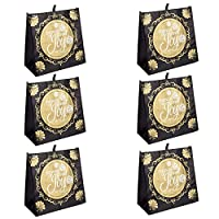 Joy to World Lord has Come Red Glittered 12 x 12 再利用可能エコフレンドリートートバッグ 6 Pack レッド 23630-6PK