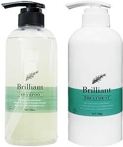 ブリリアント シャンプー500ml&トリートメント500g (Brilliant Shampoo&Treatment) アミノ酸系 自然由来成分 疎水化 ヤシ由来 低刺激シャンプー&トリートメント サロン専売品 いい香り うるうる サラサラ