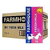 Farmhouse Farmhouse UHT Fresh Milk, 1L (Pack of 12)