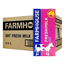 Farmhouse Farmhouse UHT Fresh Milk, 1L (Pack of 12)