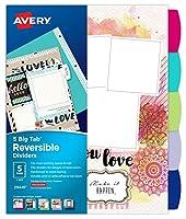 Avery ビッグタブ リバーシブルファッション仕切り アソートカラー