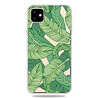 LANSHUN IPhone XIマックス2019,3Dパターン印刷ソフトTPUの携帯電話カバーケースと互換性 TPUバンパー保護ケース (Pattern : Banana leaf)