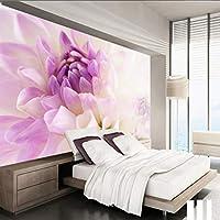 Xueshao カスタム壁紙ロマンチックパープル菊モダンミニマリストの背景壁紙壁画寝室装飾-280X200Cm