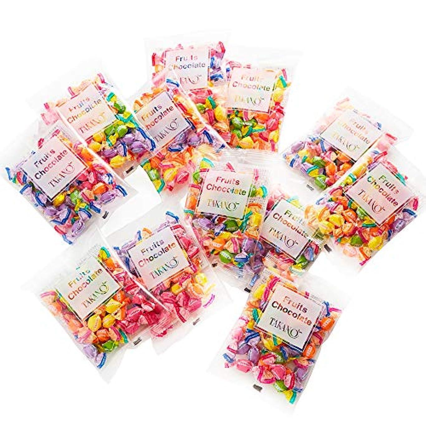 戦士みなすめんどり新宿高野 フルーツチョコレート 小袋タイプ(4袋入×3)贈り物 [内祝い/手土産/ハロウィン/バレンタイン] 5種類のフルーツ