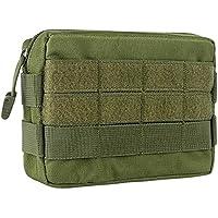 IronSeals AQ Durable Waterproof Nylon Pouch Waist Bag Outdoor Molle Pocket Hook & Loop