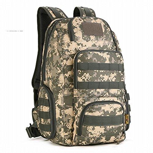 (フェニックス一輝) Phoenix Ikki 40L 豊富なポケット 全5色 迷彩柄 防水耐震 快適 ユニ カジュアル リュック アウトドア バックパック タクティカル 鞄 ACUデジタル迷彩