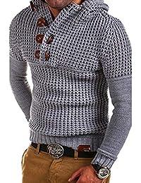 VINMORI(ヴィンモリ) メンズ セーター ニットセーター プルオーバー カーディガン 二重列ボタン 長袖 ニット 編み ストレッチ カジュアル 無地 ストリート アウター