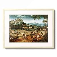 ピーテル・ブリューゲル(父) Pieter Bruegel (Brueghel) de Oude 「The Hay Harvest」 額装アート作品
