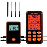inkbird IRF-4S Wireless Waterproof Grill Thermometer 4 Probes Chargeable Battery 1000ft Signal Remote