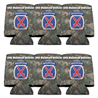Military 10th Mountain Division Can Cooler Set - 6designs-のセット6