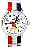 ディズニー ミッキーマウス ウォッチ ベルト トリコロール 付け替え可能 ディズニー 腕時計 メンズ レディース キッズ WATCH Disney ミッキー 手が回る 時計 NATO ナトー ディズニー 腕時計 ミッキー [並行輸入品]