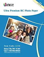 RCウルトラプレミアムフォト用紙光沢–uinkit写真用紙100%防水4x 68.5X 1111x 17forインクジェット印刷 8.5x11 inches-60sheets