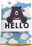 現代百貨 HELLO BEAR タオルハンカチ シープ ペールブルー 日本製 A293HI 086564