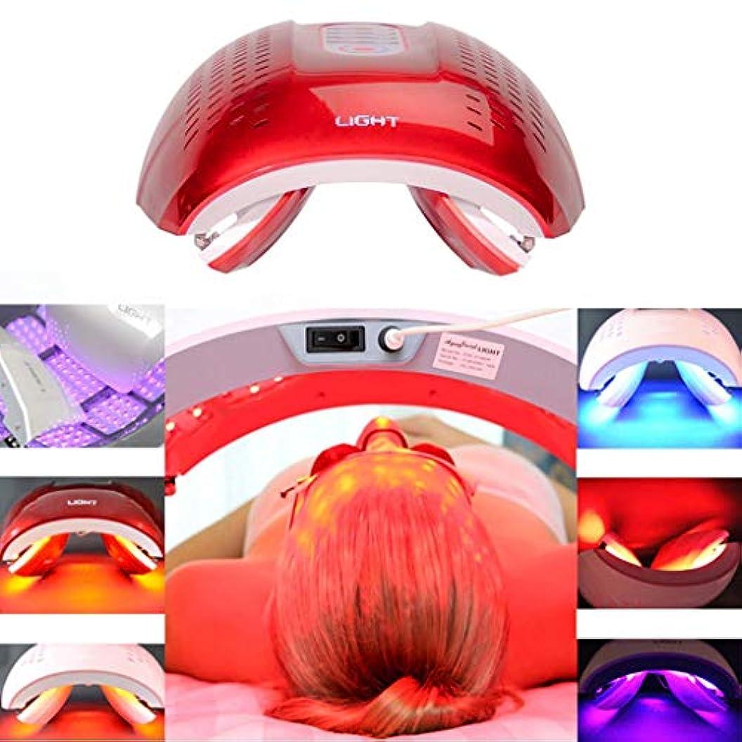 迷惑損傷観光LED光子の顔の若返りの美の器械、4色PDTの分光計、肌の引き締め美白の強化,Red