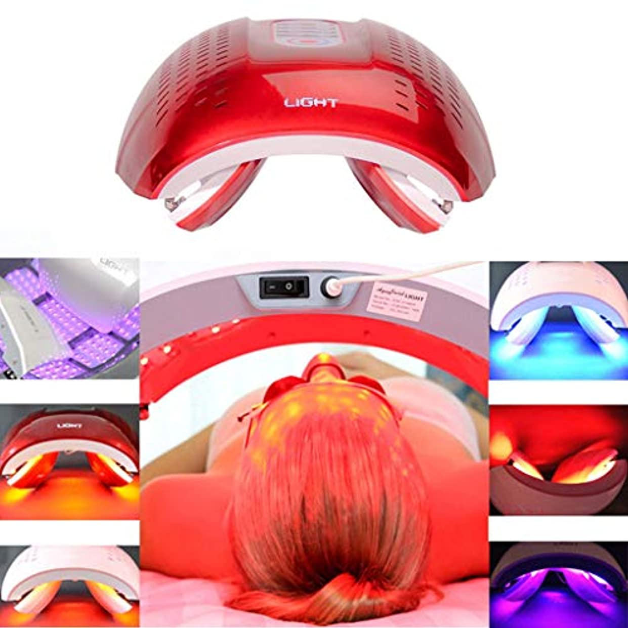 窒息させる地下海賊LED光子の顔の若返りの美の器械、4色PDTの分光計、肌の引き締め美白の強化,Red