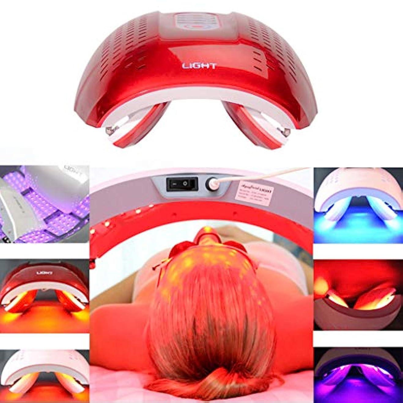 呼吸する革命的令状LED光子の顔の若返りの美の器械、4色PDTの分光計、肌の引き締め美白の強化,Red