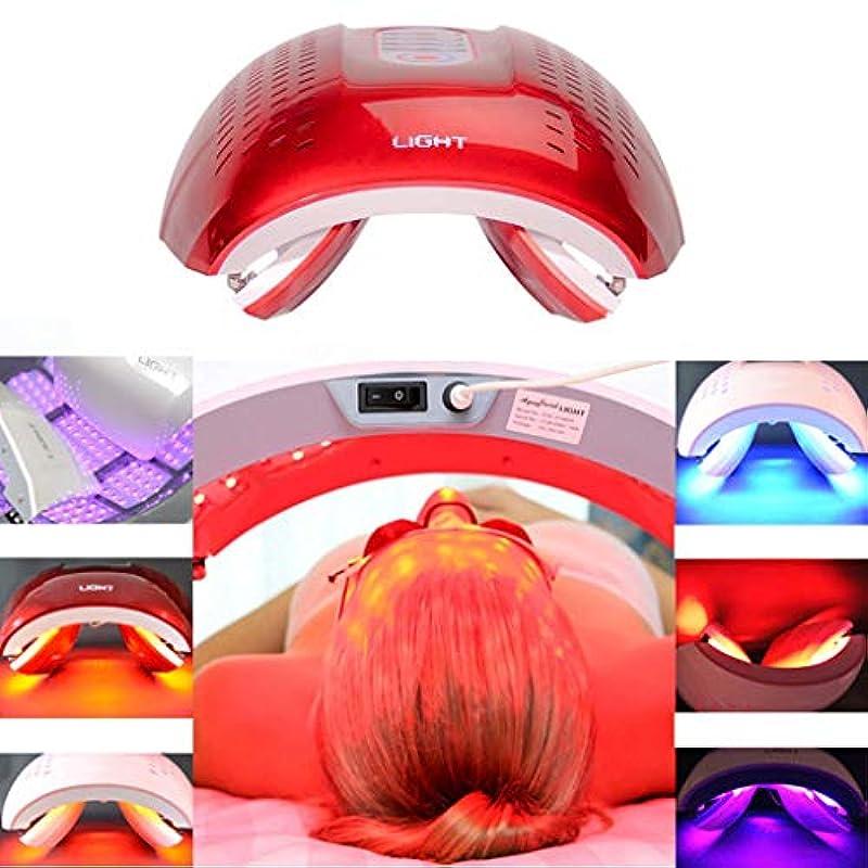 鈍いファブリック育成LED光子の顔の若返りの美の器械、4色PDTの分光計、肌の引き締め美白の強化,Red