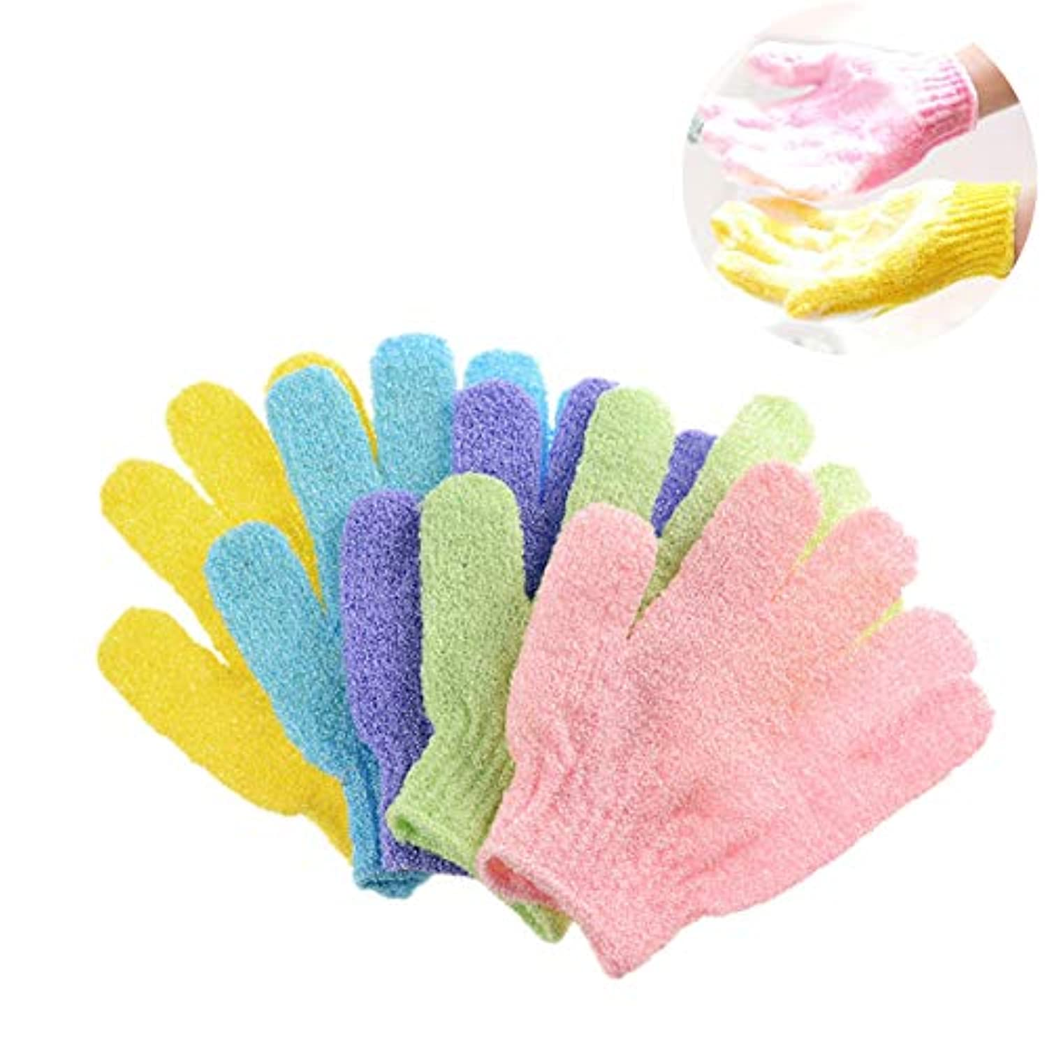 ユーモア程度契約するKingsie 浴用手袋 10枚セット(5ペア) ボディウォッシュ手袋 お風呂手袋 角質除去 角質取り 泡立ち 垢すり グローブ
