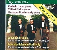 Moscow Trio: Vladimir Ivanov, violin Mikhail Utkin, cello Alexander Bonduriansky, piano. Mendelssohn