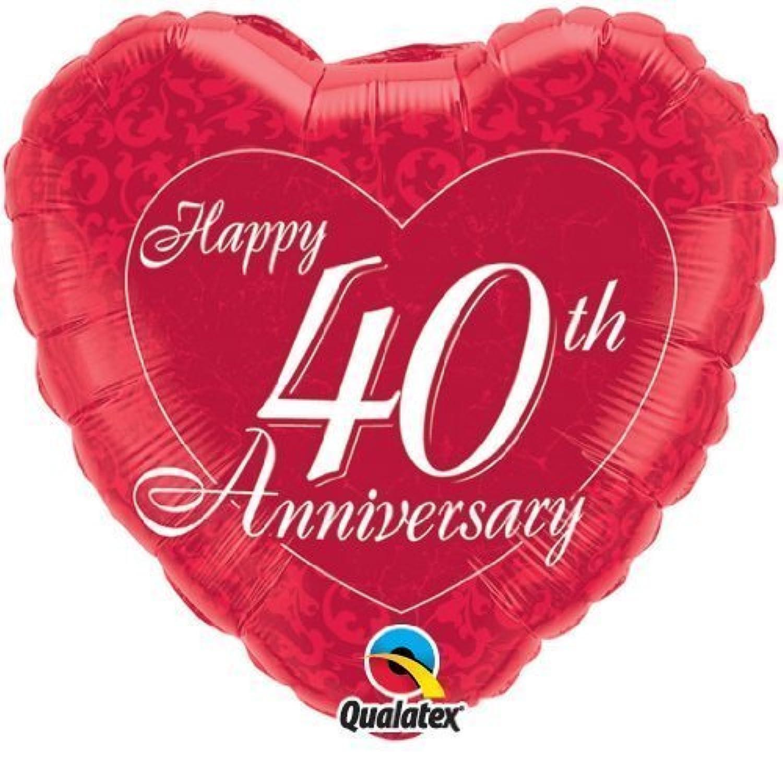 Happy 40th Wedding Anniversary Ruby 18 by QualatexホイルバルーンQualatex