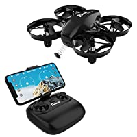 Potensic Mini Drone for Kids With Camera, RC Portable Quadcopter 2.4G 6 Axis - Altitude Hold, Headless, Remote Control, Route Settiing, Real Time FPV, Speed Mode and More
