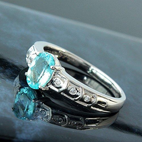 One&Only Jewellery 【鑑別書付】 天然 パライバトルマリン ダイヤモンド Pt900 ホワイトゴールド リング 指輪