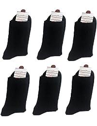 DEMET メンズ ビジネス ソックス 靴下 (6足セット) 25cm~28cm 抗菌 防臭 リブ編みソックス