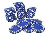 ブルーwith Card Suit複合ポーカーチップ11.5G Heavy Duty Lot of 200( 4パック)