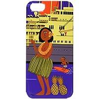 WE LOVE LOCOHAMA フラガール 船旅でハワイへ行こう! シェル スマートフォンケース 3D SE/IP5 3D WLL-017MOL-SED