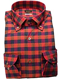 RSD634-007 (スタイルワークス) メンズ長袖ワイシャツ チェック | 赤