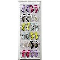 weisipuクリスタルクリアをドアのハンギング靴オーガナイザー、多層ストレージバッグ、24ポケット