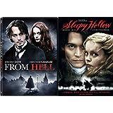 Tim Burton Johnny Depp Sleepy Hollow +From Hell DVD Bundle Fantasy Action set