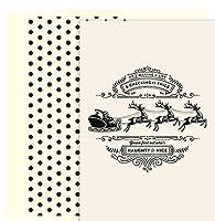 傑作Studios HolidayコレクションPetites Boxedカード、クリスマスリース、18カード/18foil-lined封筒