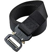 Lihaer Men's Elastic Adjustable Waistband Durable Nylon Canvas Belts Fashion Outdoor Sports Belt