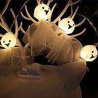 LEDイルミネーションライト ハロウィン Timsa 電池式 フェアリーライト LED装飾ライト 布のゴースト柄 ランタン LED 飾り ライト LEDストリングライト 室内 室外 庭 バレンタインデー パーティー Halloween クリスマス装飾 学園祭 電飾