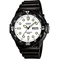 Casio Men's MRW200H-7EV Black Resin Quartz Watch with White Dial