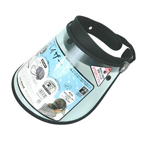 ボタンで簡単装着!可動式レインバイザー V-001 (UV90%カット)