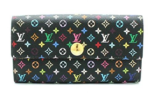 [ルイ ヴィトン] LOUIS VUITTON モノグラムマルチカラー ポルトフォイユ サラ 2つ折ファスナー長財布 ノワール 黒 ブラック グルナード M93747
