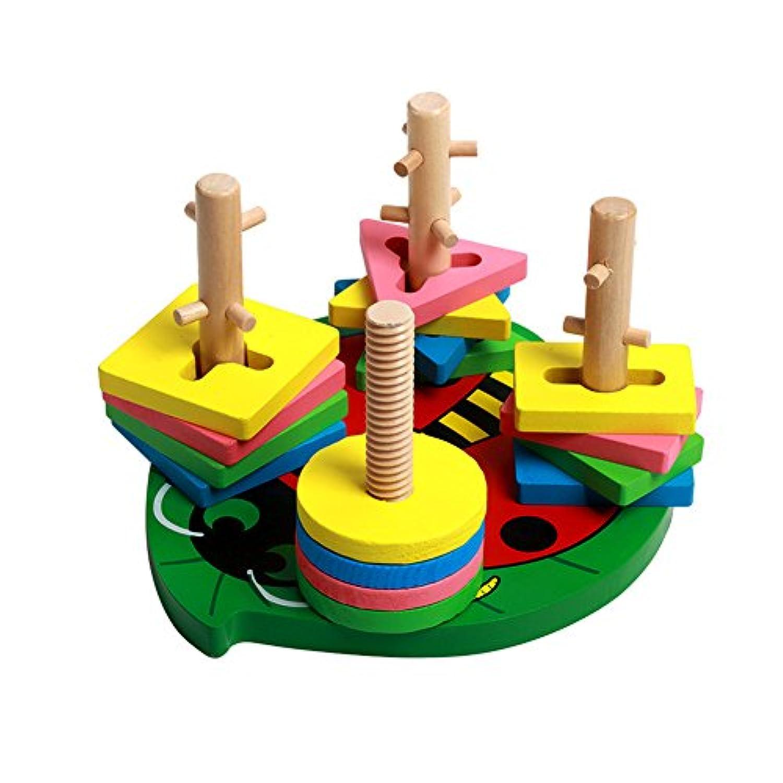 Emotionlin 4つセット子供の教育開発列形状カラーブロックおもちゃ