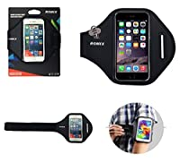 DFV mobile - Professional Cover Neoprene Waterproof Armband Wraparound Sport with Buckle for => LG L BELLO DUAL, D335 > Black