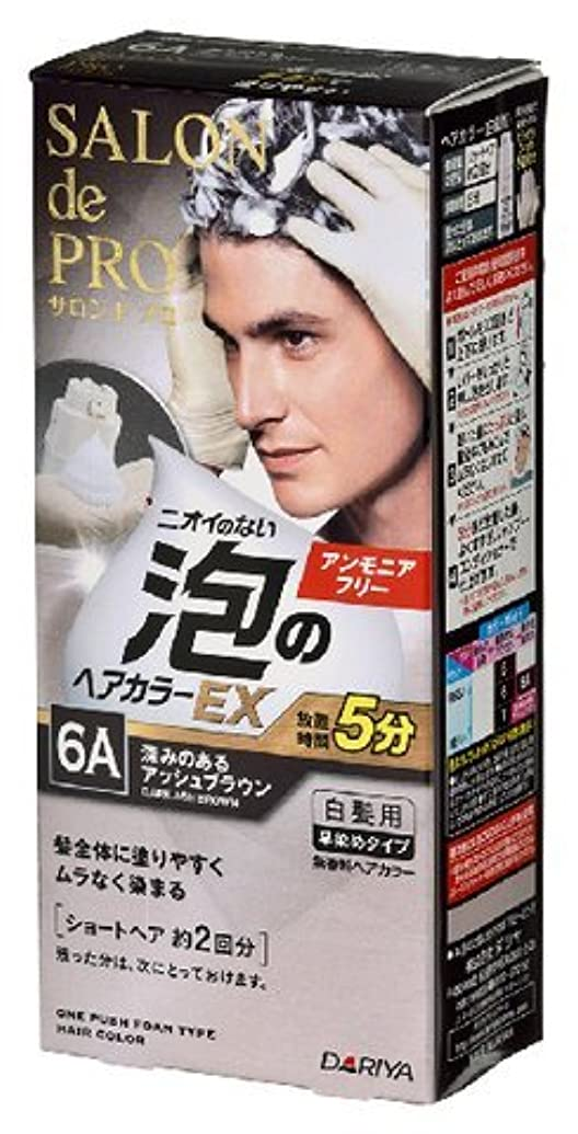 バブル有名なかび臭いサロンドプロ 泡のヘアカラーEX メンズスピーディ(白髪用) 6A<深みのあるアッシュブラウン> × 3個セット