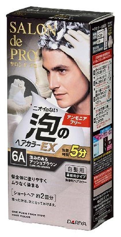 ピッチャーガレージタイプサロンドプロ 泡のヘアカラーEX メンズスピーディ(白髪用) 6A<深みのあるアッシュブラウン> × 3個セット