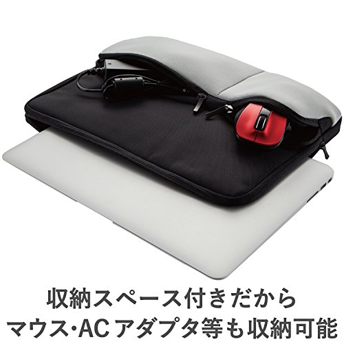 エレコム インナーケース 13.3インチ 小物収納ポケット付 ブラック 12インチ/12.1インチ/12.5インチ/13インチ/13.3インチ BM-IBPT13BK